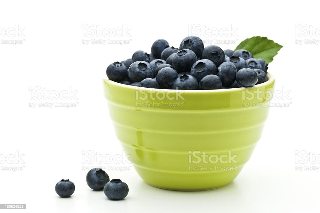 Blueberry with leaf stock photo