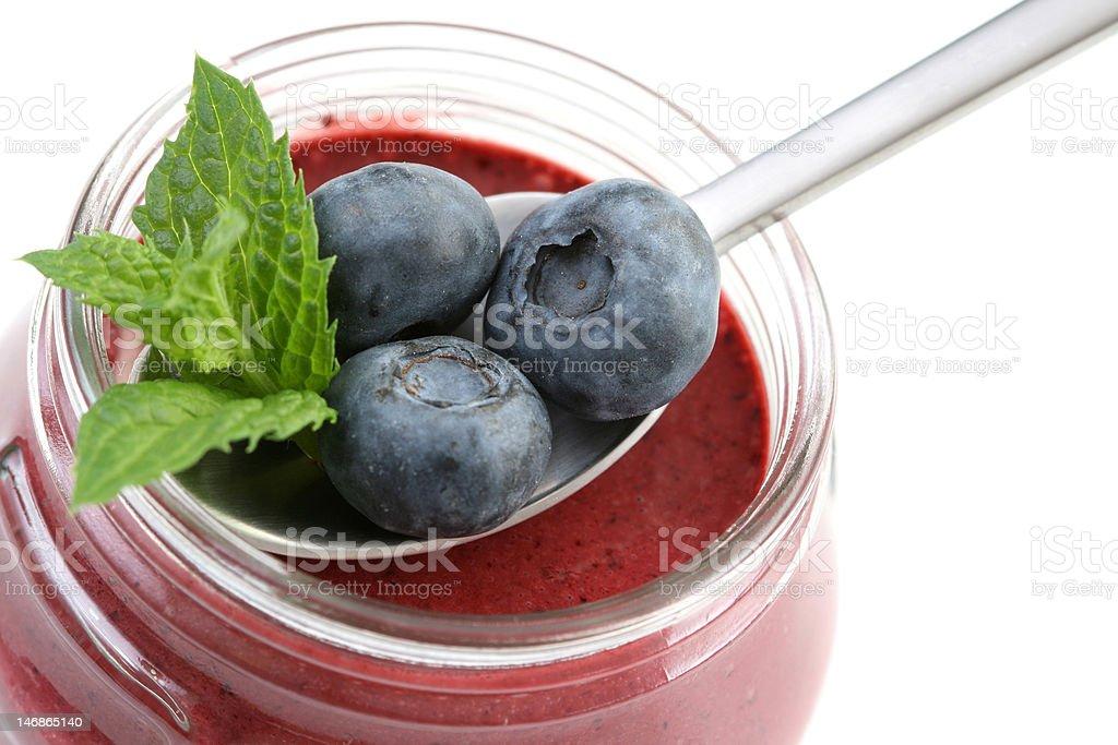 blueberry yogurt royalty-free stock photo
