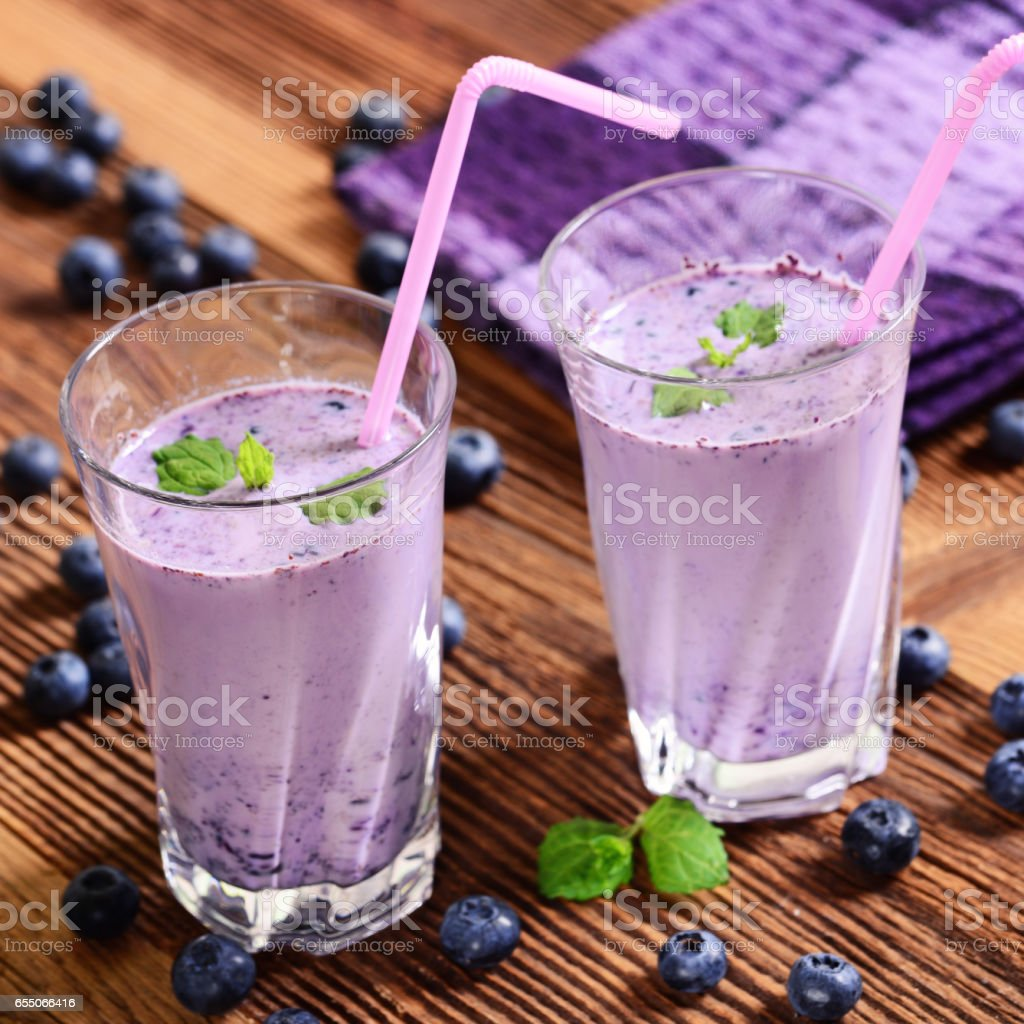 Bluebierries drink stock photo