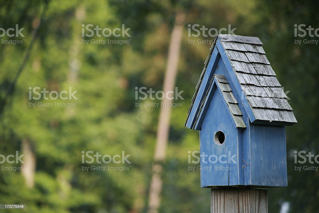 Bluebird House in Summer royalty-free stock photo