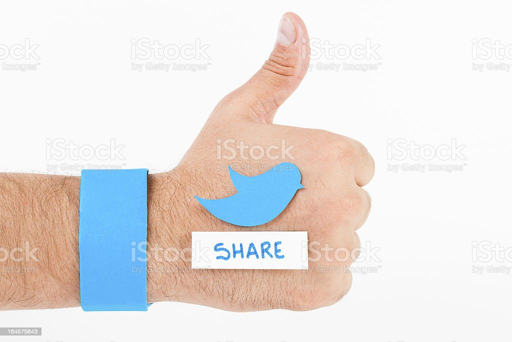 Bluebird share concept royalty-free stock photo