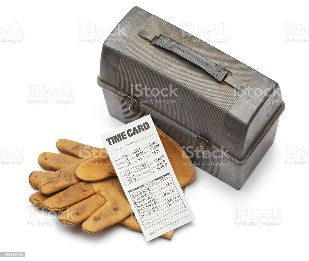 Bluecollar Payroll stock photo