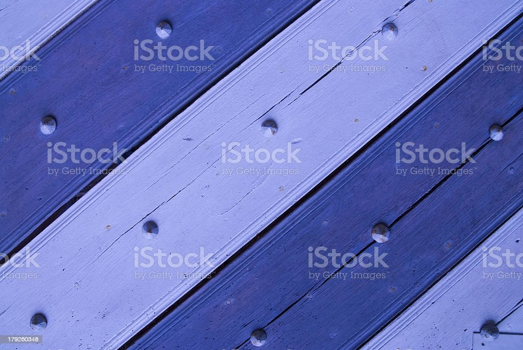 Blue-gray door stock photo