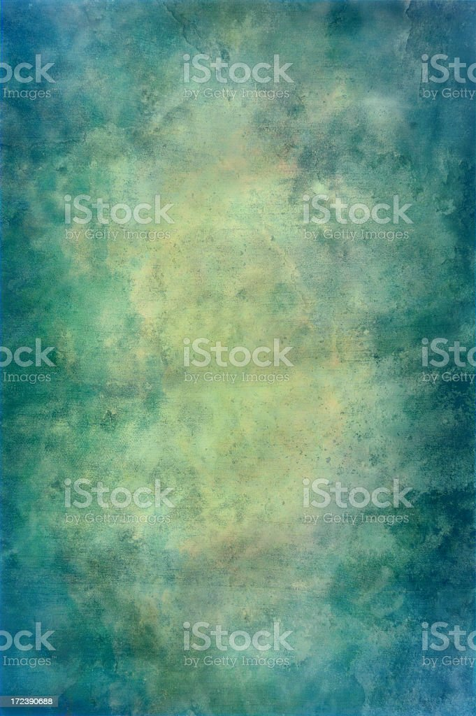 Blue-green grunge background royalty-free stock photo