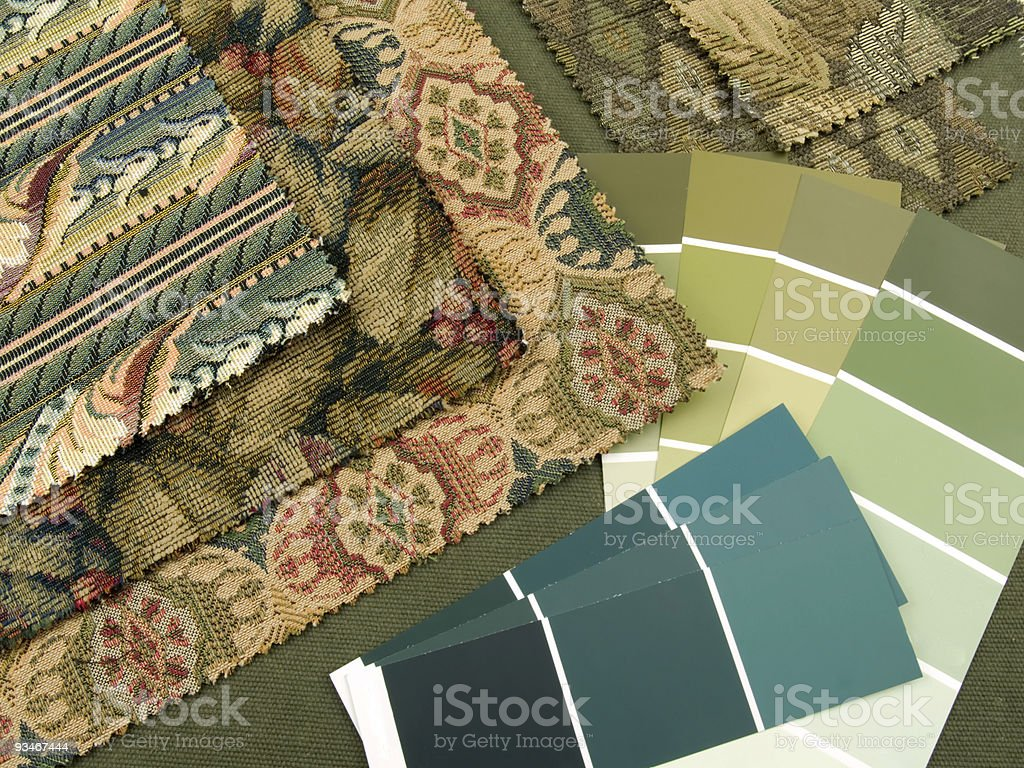 Blueish green interior decoration plan royalty-free stock photo