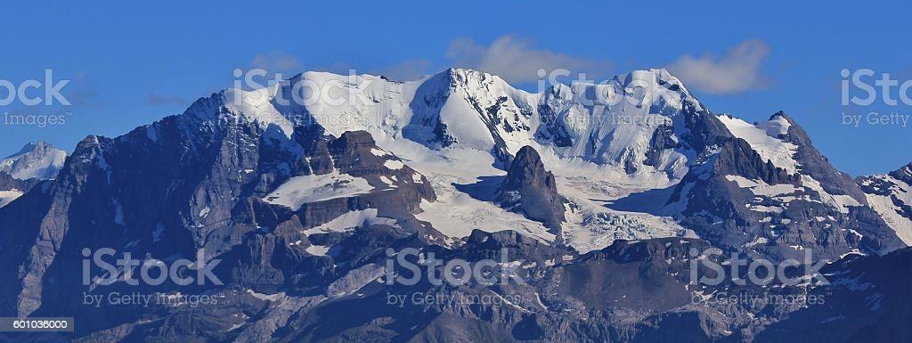 Bluemlisalp Range and glacier stock photo