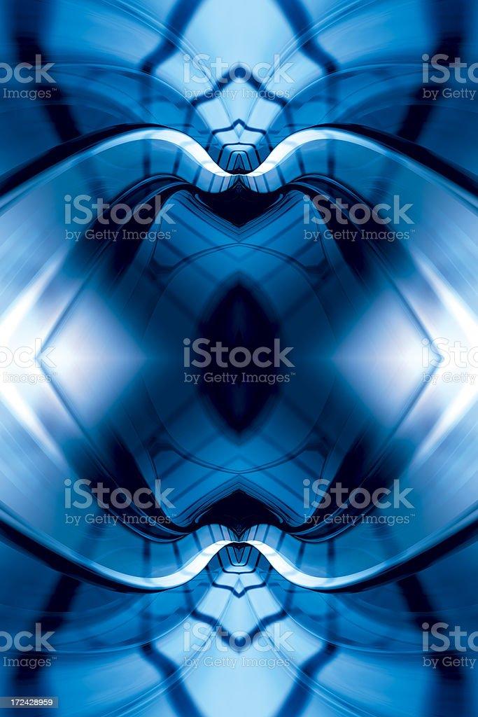 BlueMysticFractalFour royalty-free stock photo