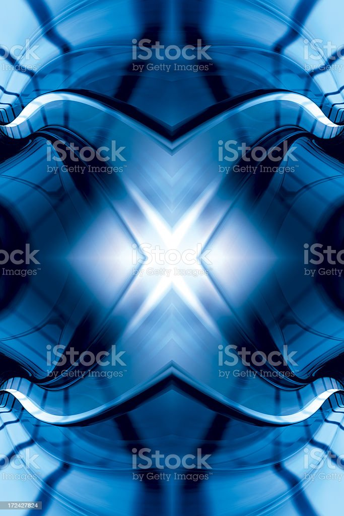 BlueMysticFractalTwo royalty-free stock photo