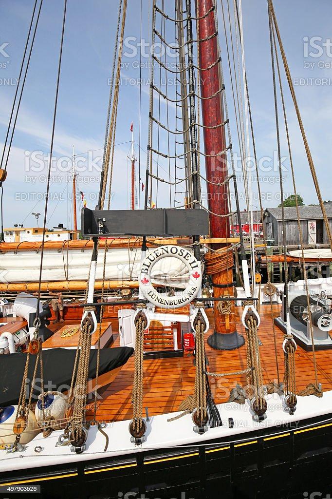 Bluenose II. Lunenburg, Nova Scotia, Canada stock photo