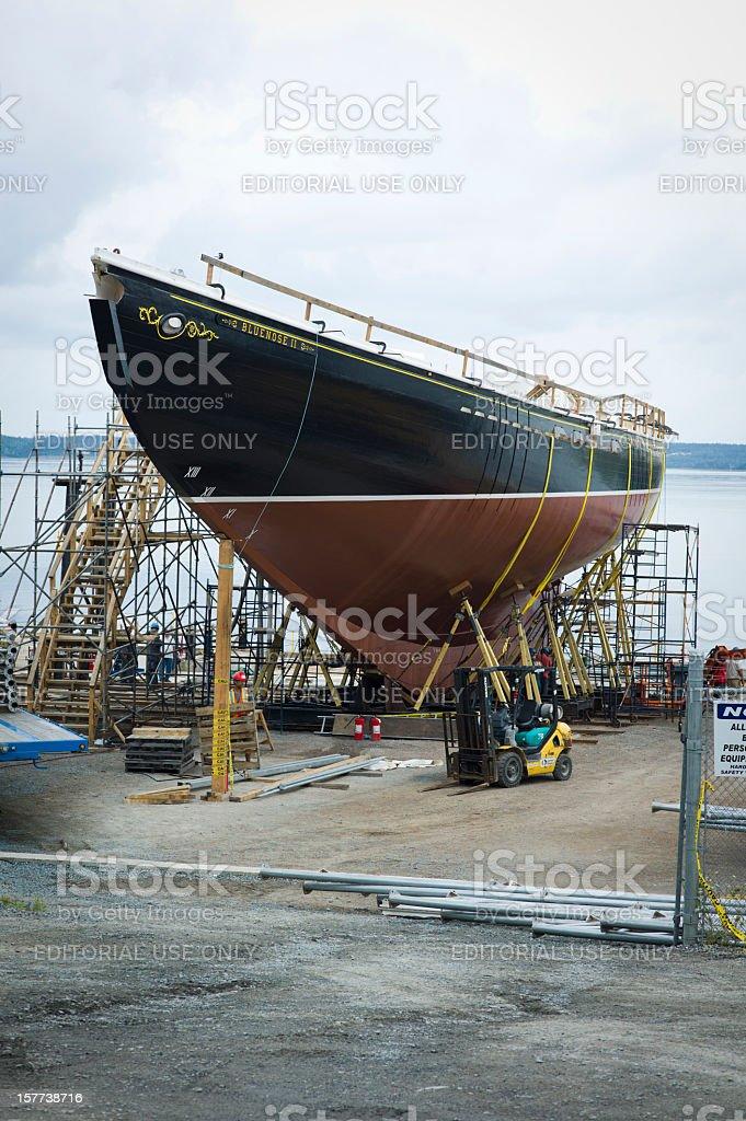 Bluenose II Rebuild stock photo