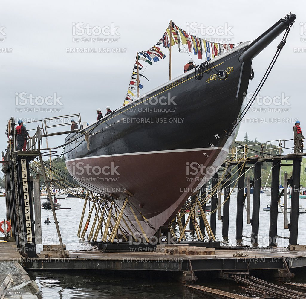 Bluenose II Re-launch royalty-free stock photo