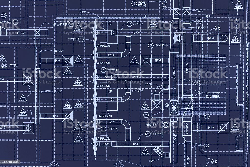 Blueprint 02 stock photo