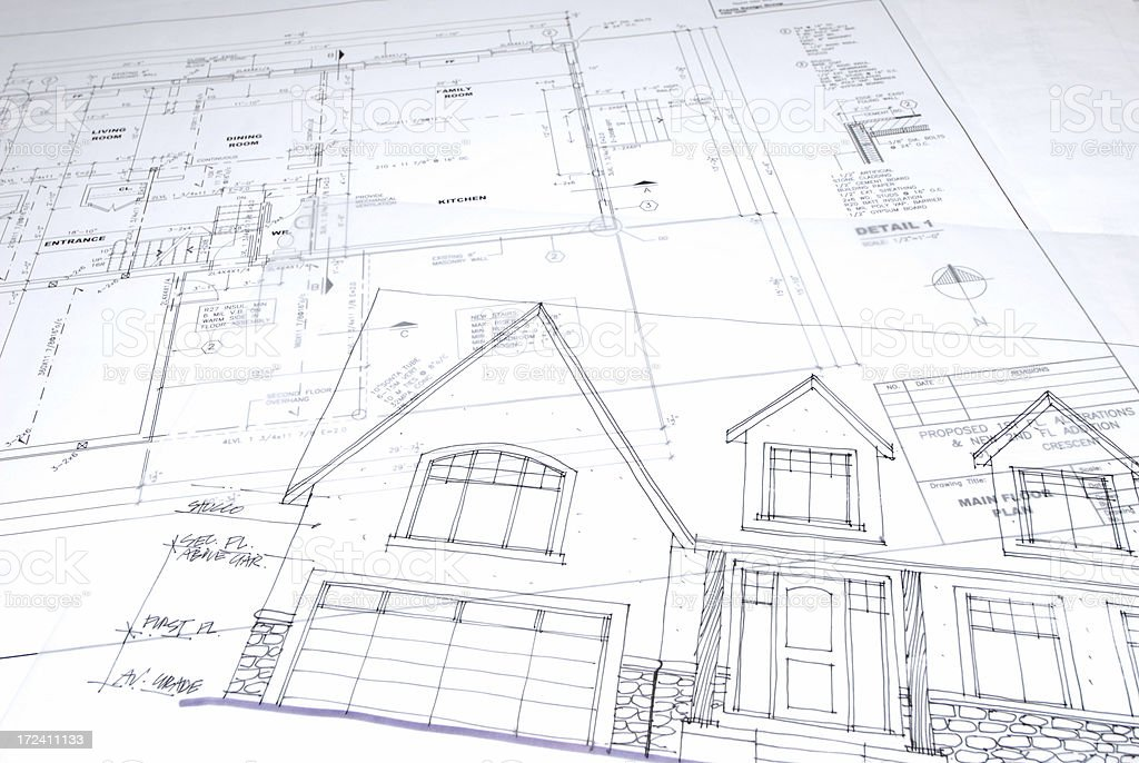blueprint 121 stock photo