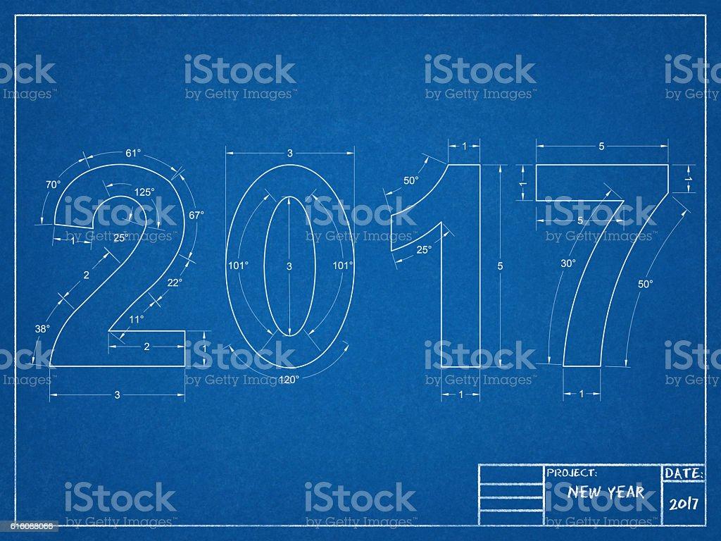Blueprint 2017 stock photo