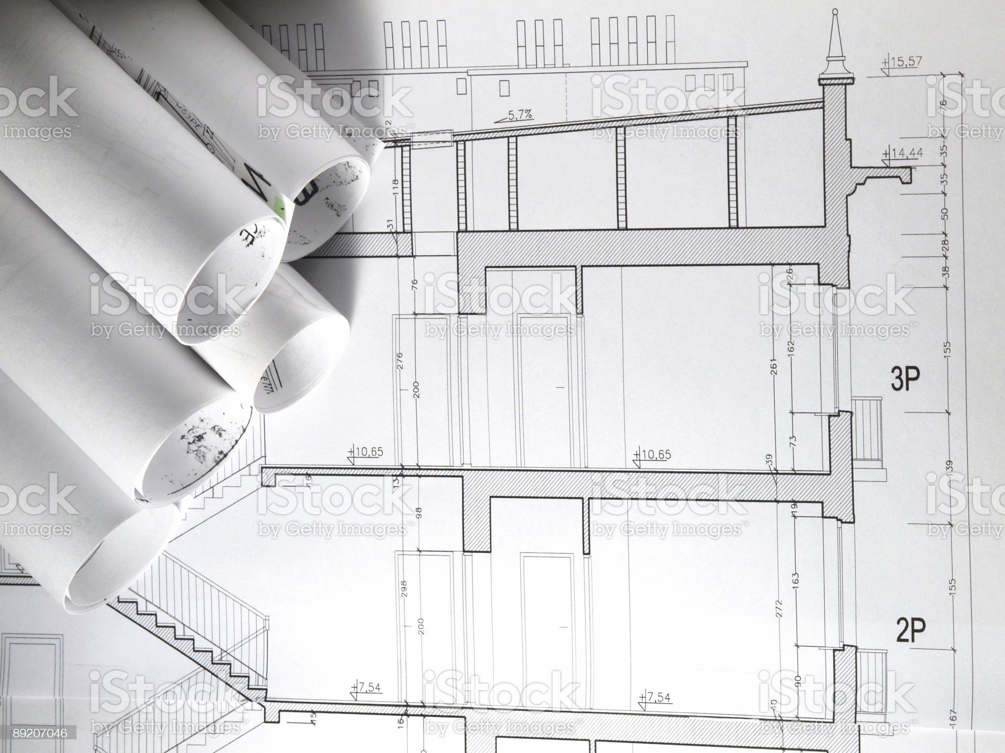 Blueprint 3 royalty-free stock photo