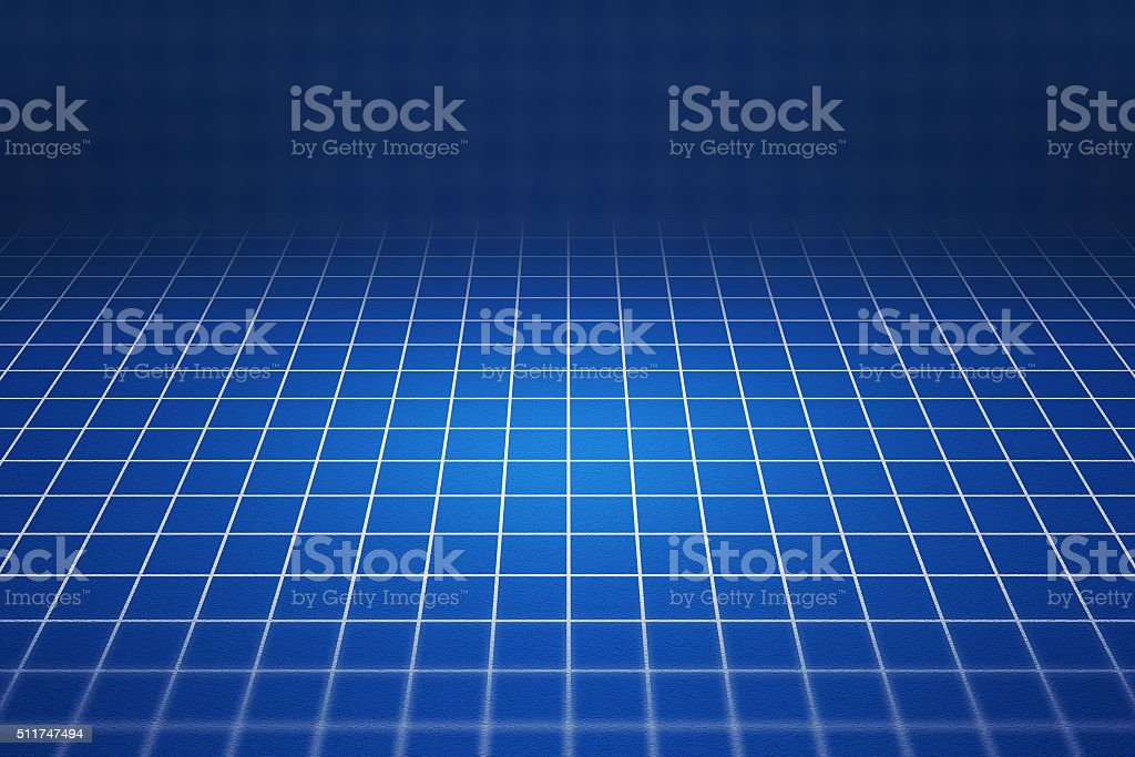 Blueprint 3D Background stock photo