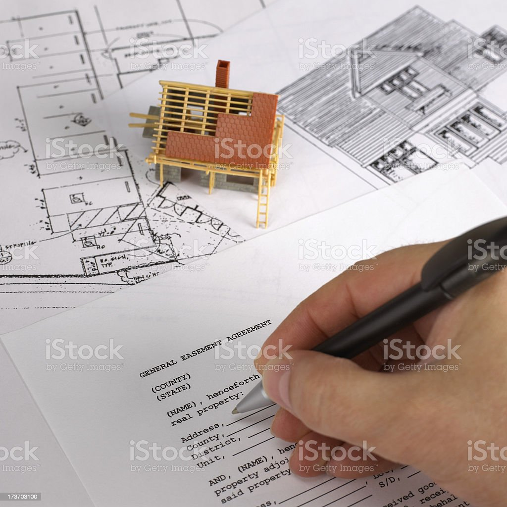 Blueprint and document royalty-free stock photo