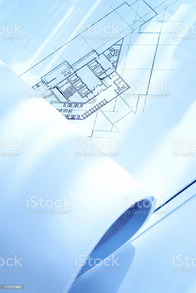 Blueprint Background royalty-free stock photo