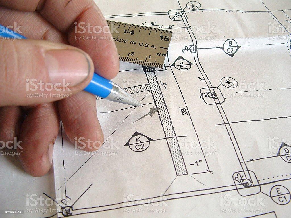 Blueprint Change royalty-free stock photo