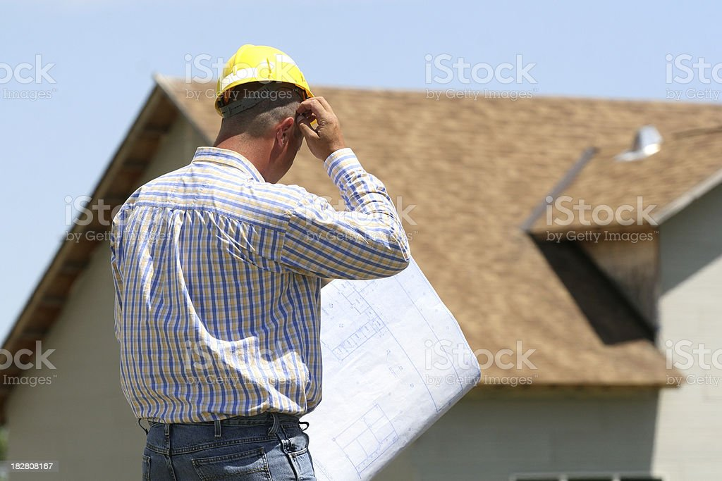 Blueprint Confusion royalty-free stock photo