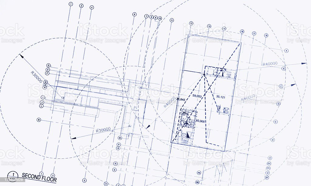 Blueprint Detail 3 royalty-free stock photo