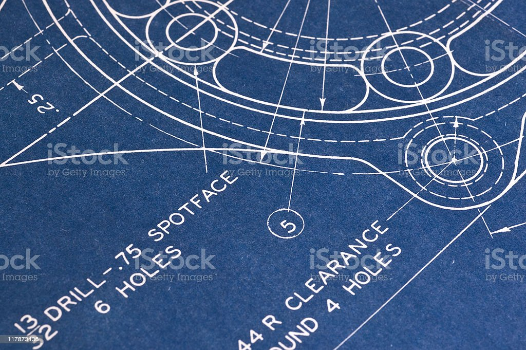 Blueprint detail royalty-free stock photo