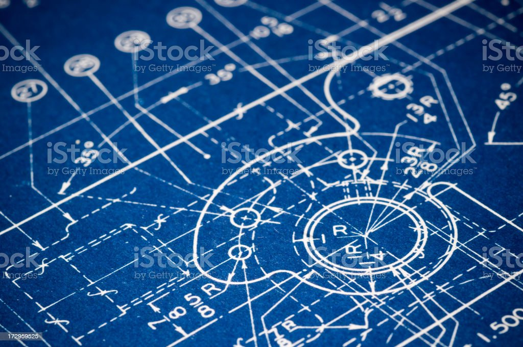 Blueprint detail royalty-free stock photo
