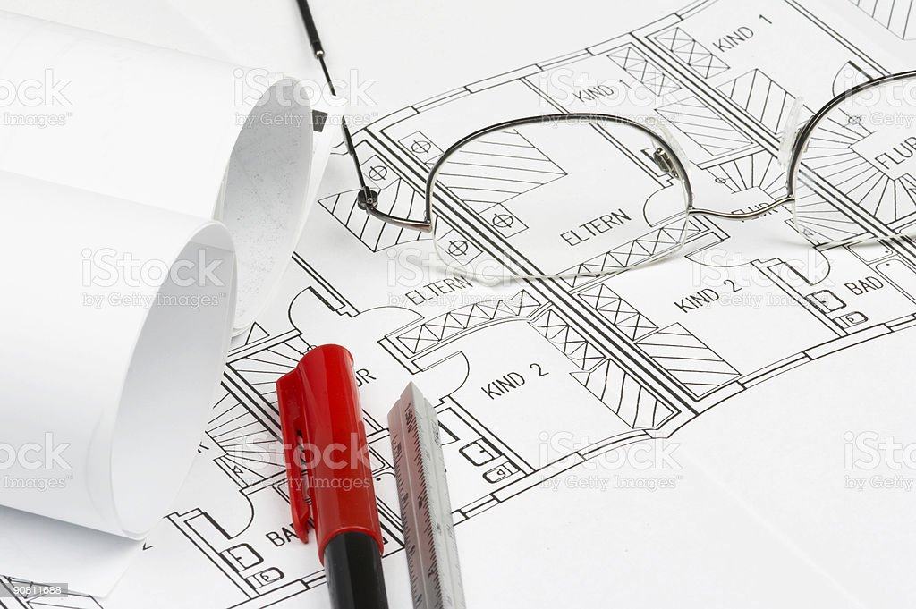 Blueprint details royalty-free stock photo