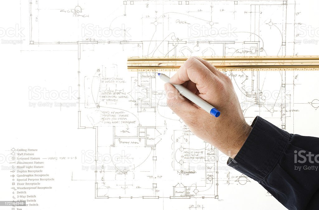 Blueprint - drawing royalty-free stock photo