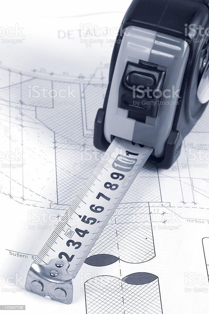 Blueprint Drawing royalty-free stock photo