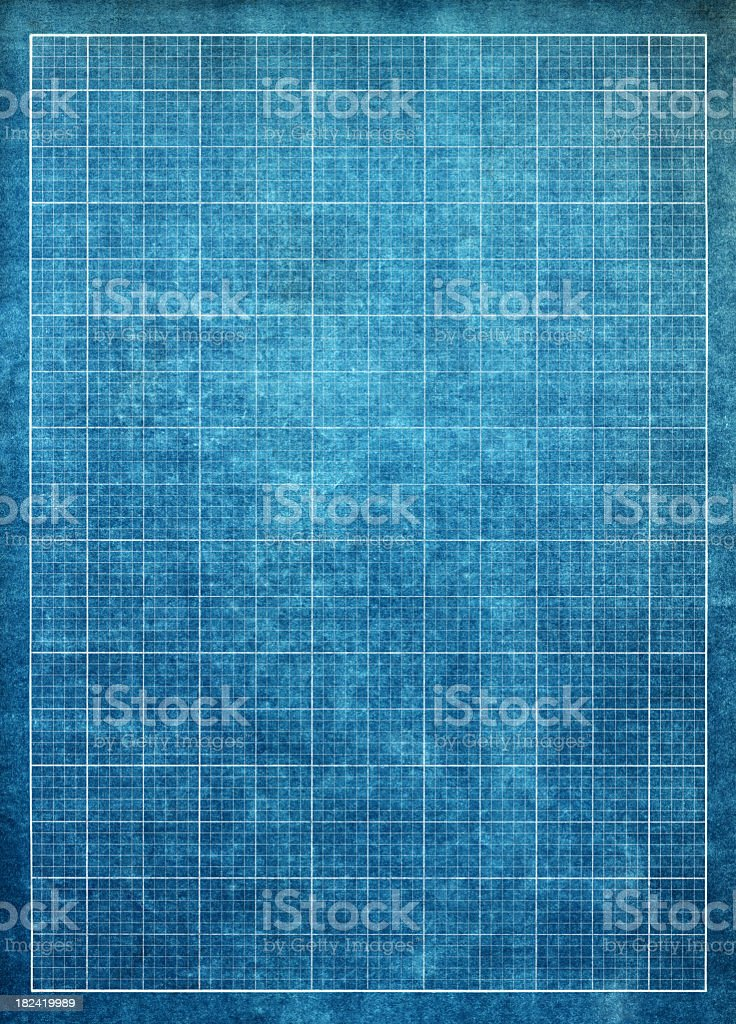 Blueprint graph paper background royalty-free stock photo