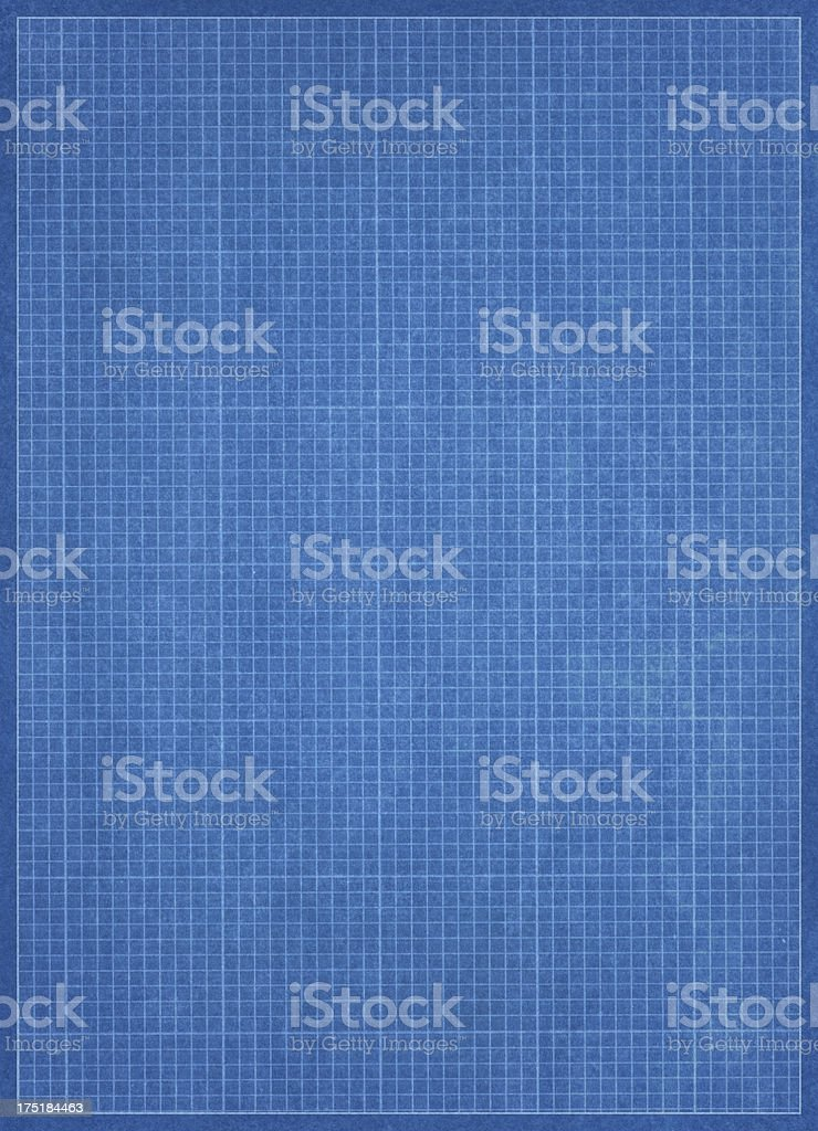Blueprint Grid Paper royalty-free stock photo