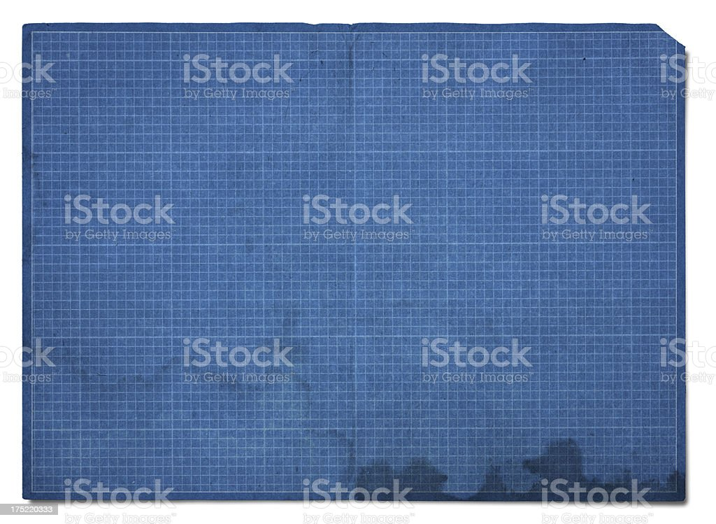 Blueprint Grid Paper  (Clipping Path) royalty-free stock photo