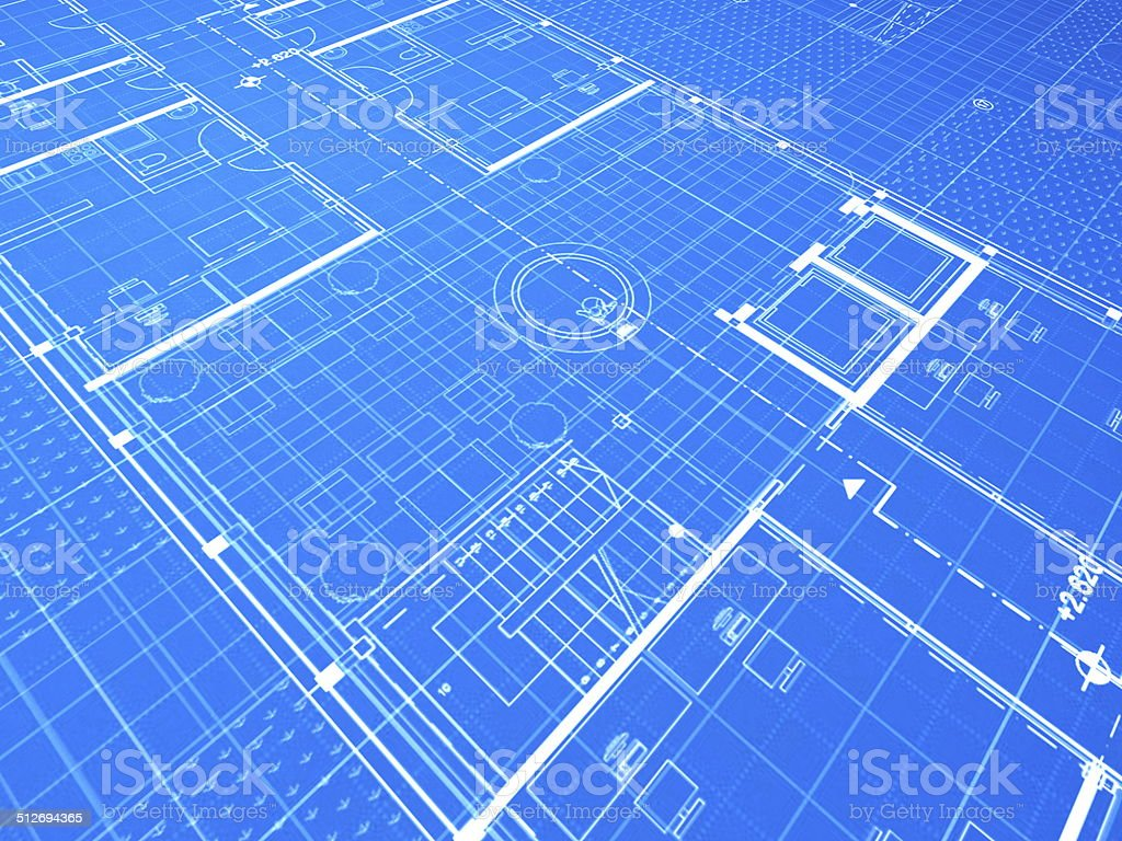 Blueprint, lobby stock photo
