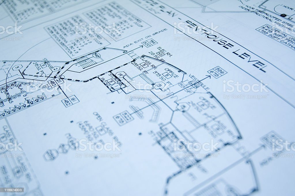 blueprint of a penthouse royalty-free stock photo