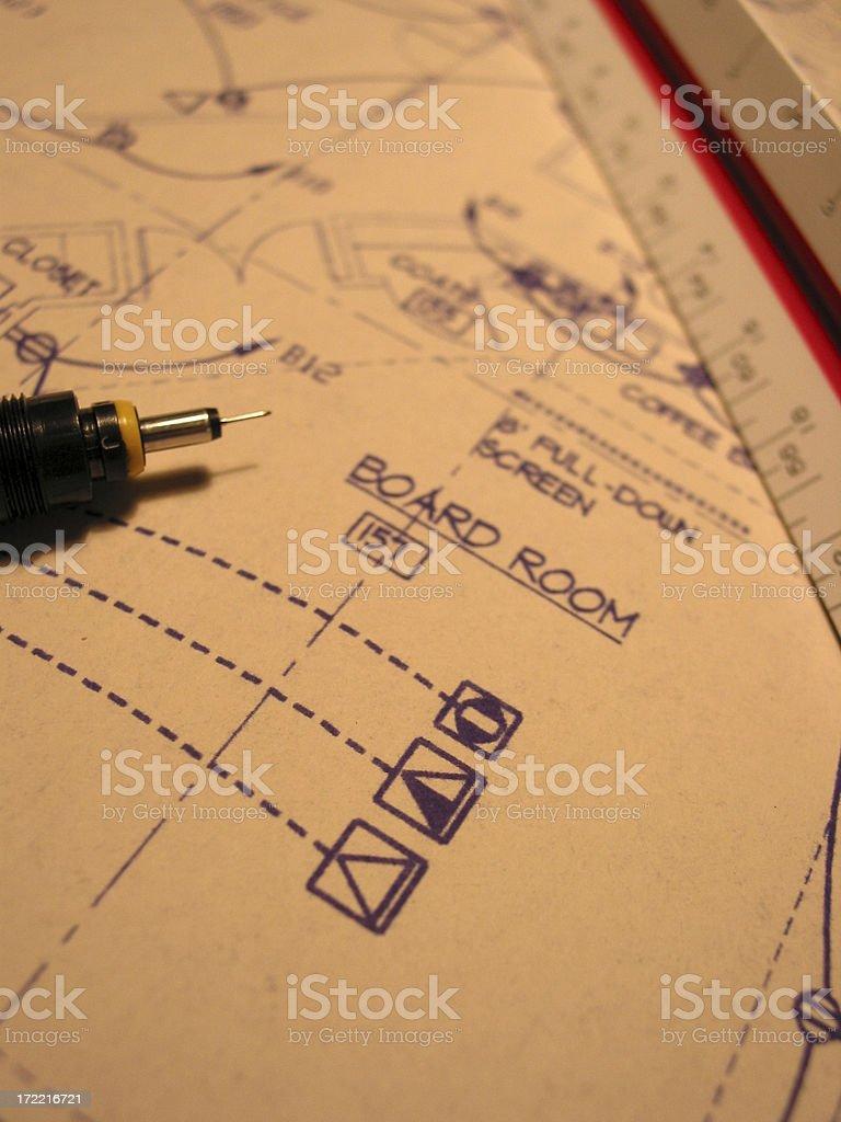 blueprint of boardroom royalty-free stock photo