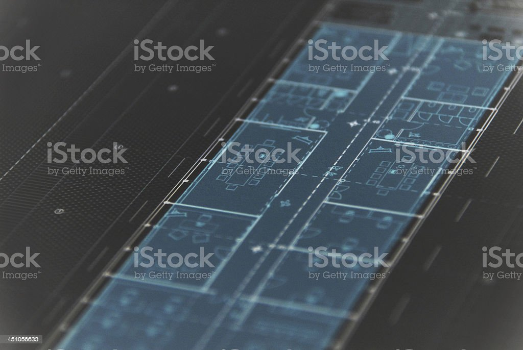 blueprint royalty-free stock photo