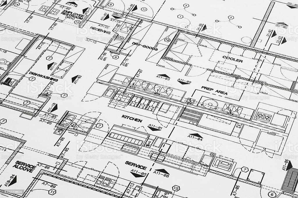 Blueprint Planning royalty-free stock photo