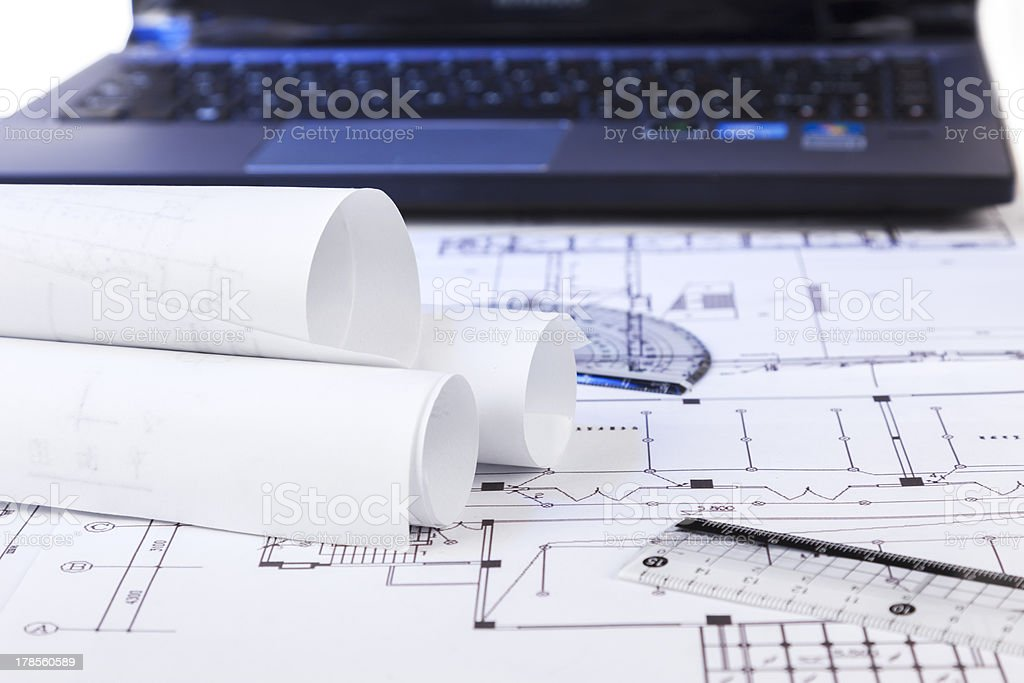 Blueprint Series royalty-free stock photo
