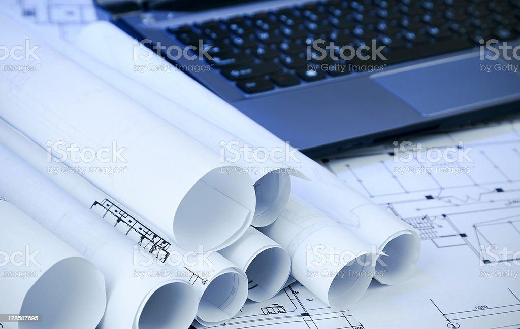 Blueprint Series royalty-free stock photo