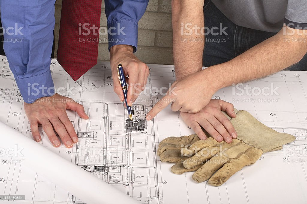 Blueprints 10 - Checking The Details royalty-free stock photo