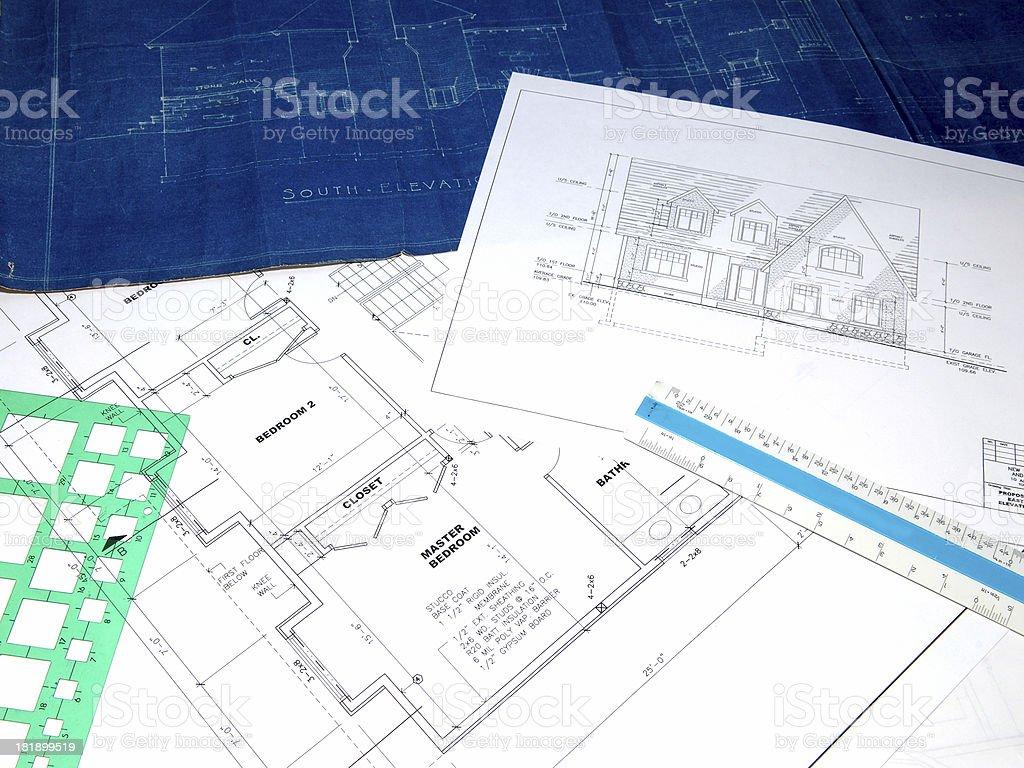 blueprints 12 royalty-free stock photo