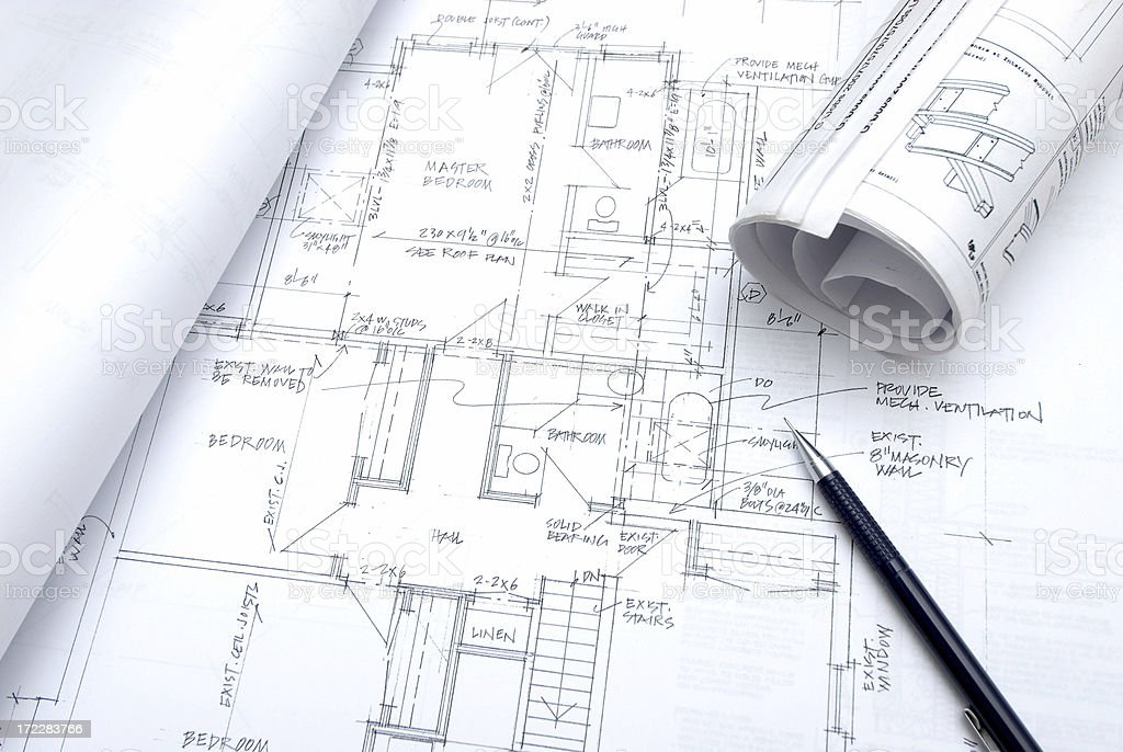 blueprints 123 royalty-free stock photo