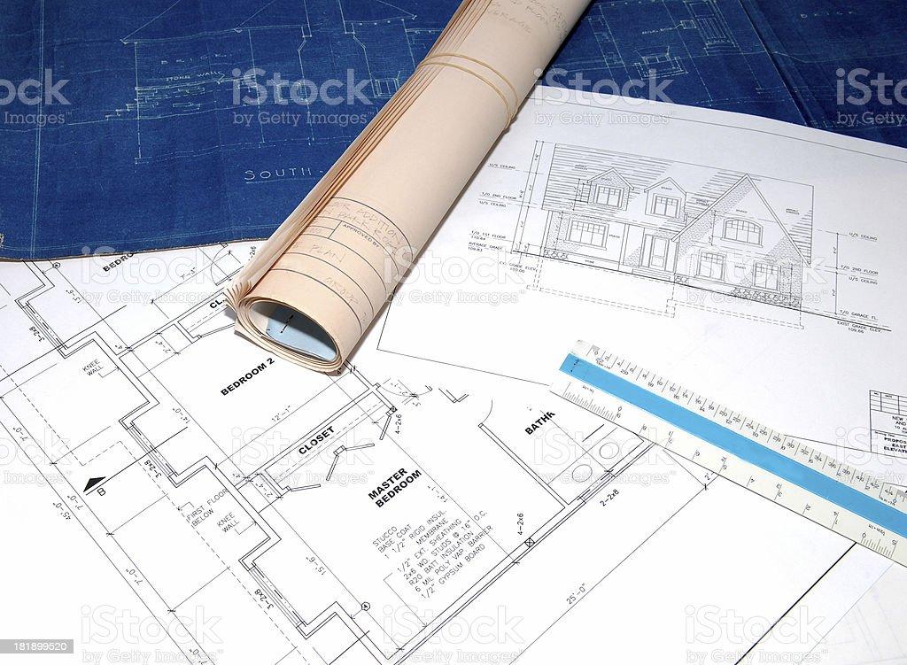 blueprints 13 royalty-free stock photo