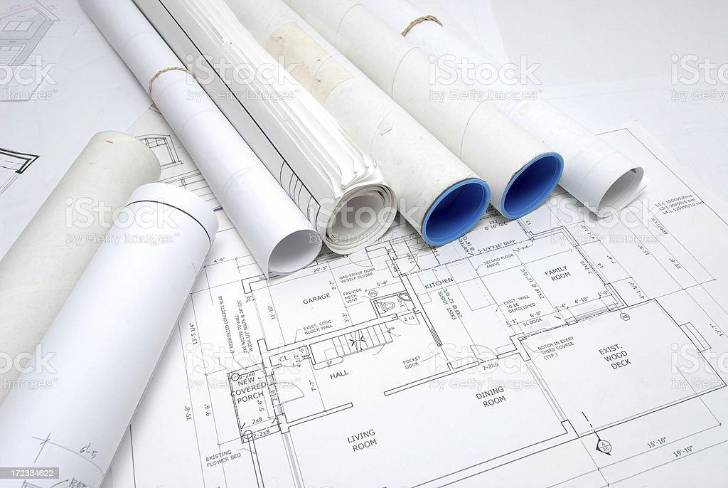 blueprints 138 royalty-free stock photo