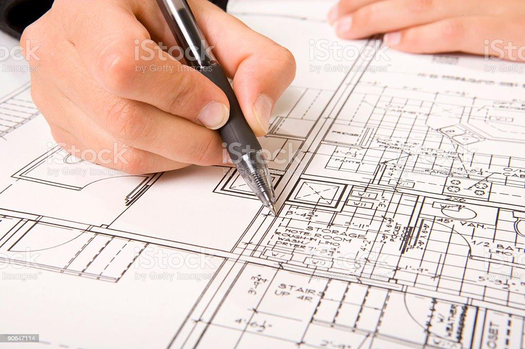 Blueprints 2 royalty-free stock photo