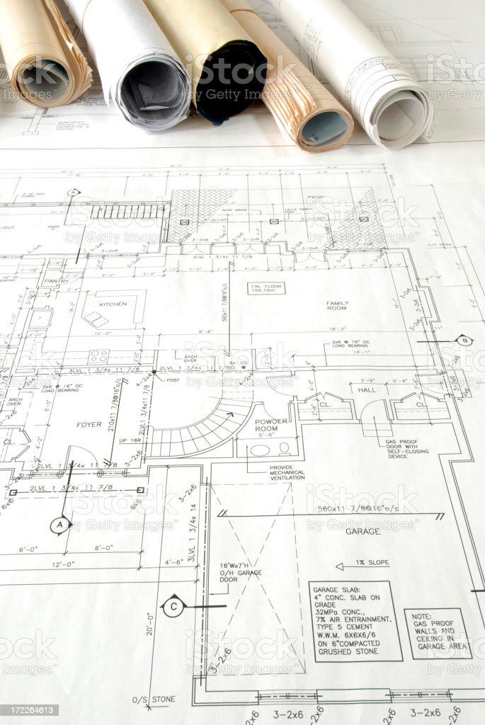 blueprints 49 royalty-free stock photo