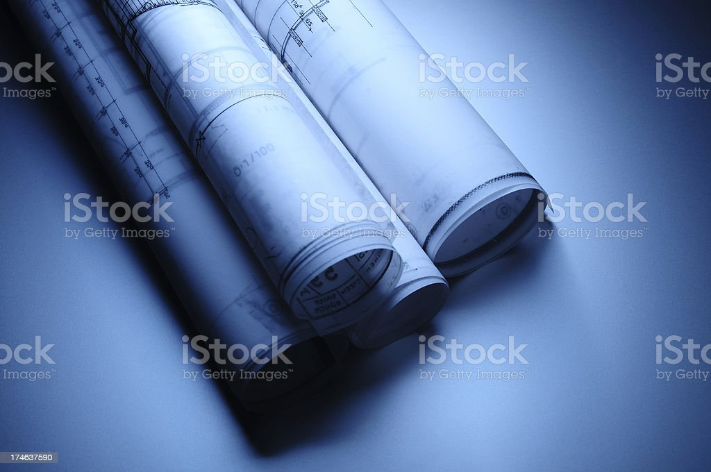 Blueprints Abstract royalty-free stock photo