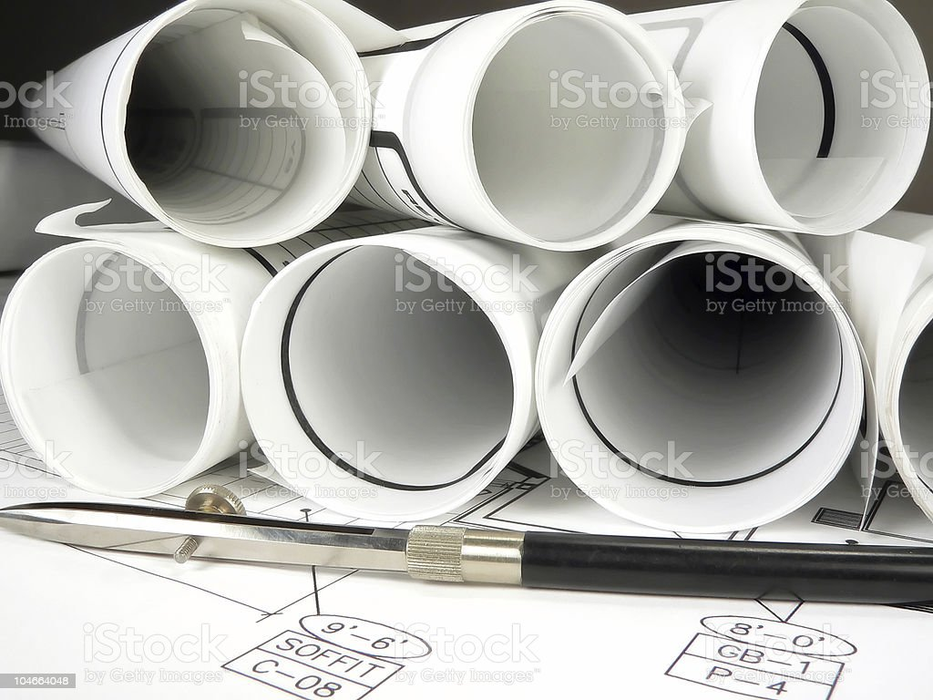 Blueprints and Design royalty-free stock photo