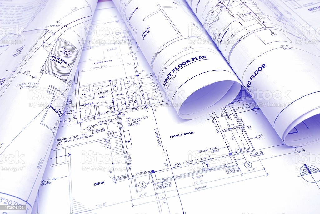 blueprints b2 royalty-free stock photo